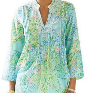 Lily Pulitzer Sarasota Beaded Tunic Size XL